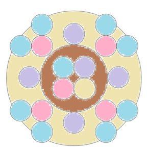 mandalas mit kreise seite ausgemaltes beispiel