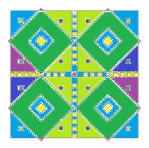 mandalas mit quadraten beispiel seite ausgemalt