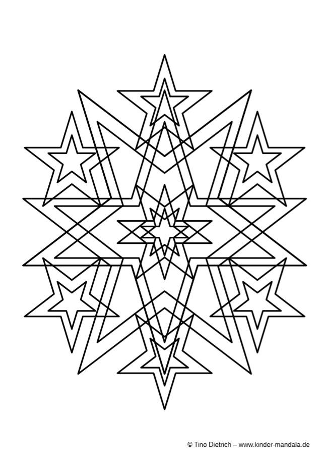 mandalas aus sterne  kinder mandala